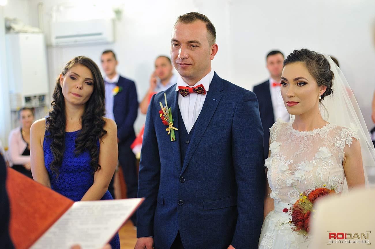 Foto nunta starea civila Comanesti Bacau