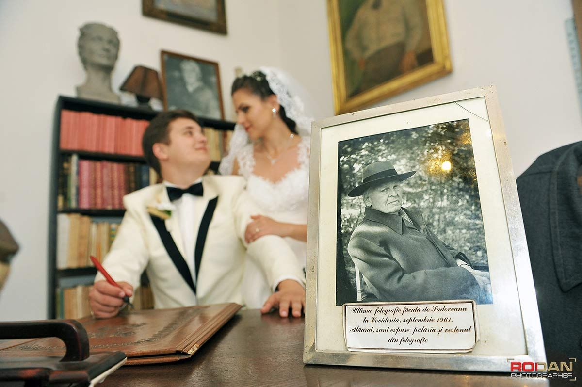 sedinta foto nunta casa memoriala Mihail Sadoveanu