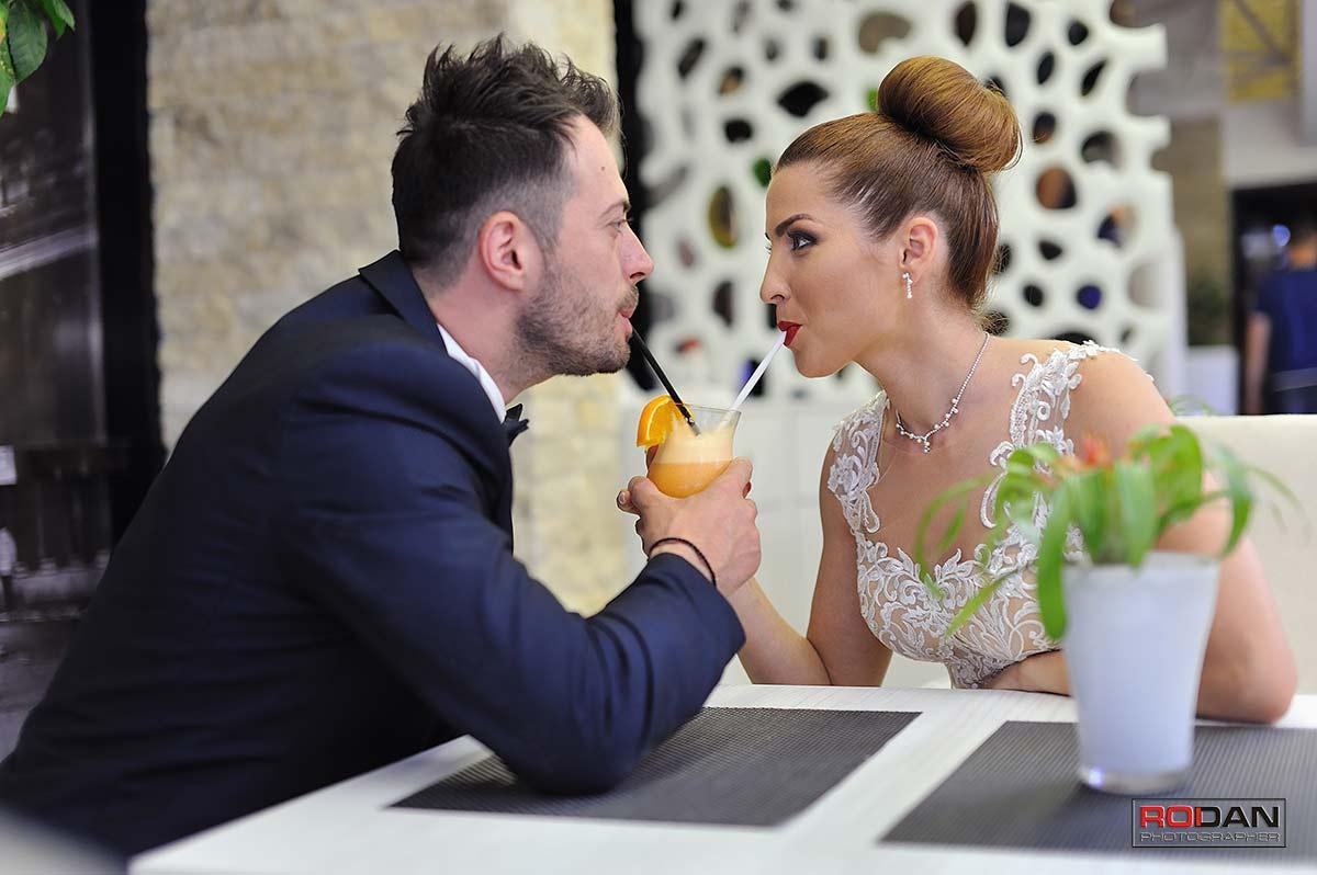 Sedinta foto cu mirii dupa nunta
